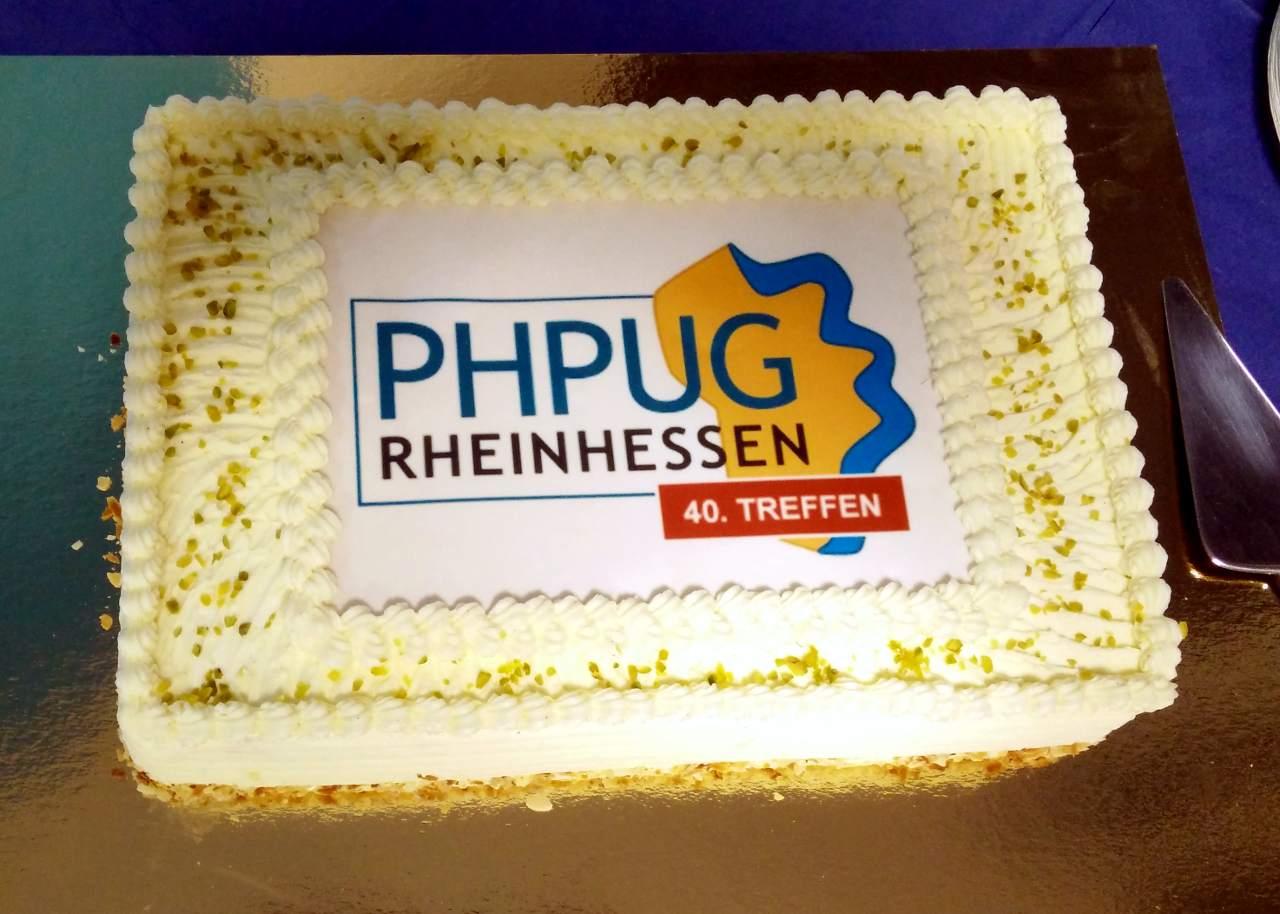 Die Torte zum 40. Treffen der PHPUG Rheinhessen